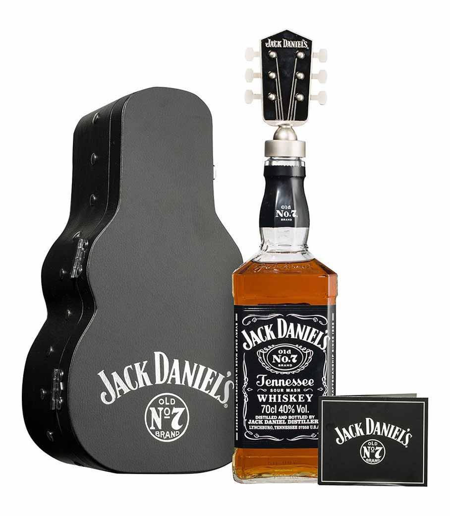 JACK DANIELS GIFT PACK GUITAR WHISKEY 700ml