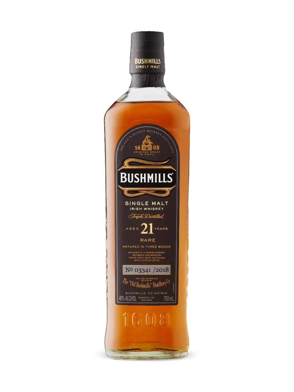 BUSHMILLS 21 YEARS IRISH SINGLE MALT 700ml